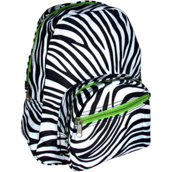 Mini Backpack Zebra Black White