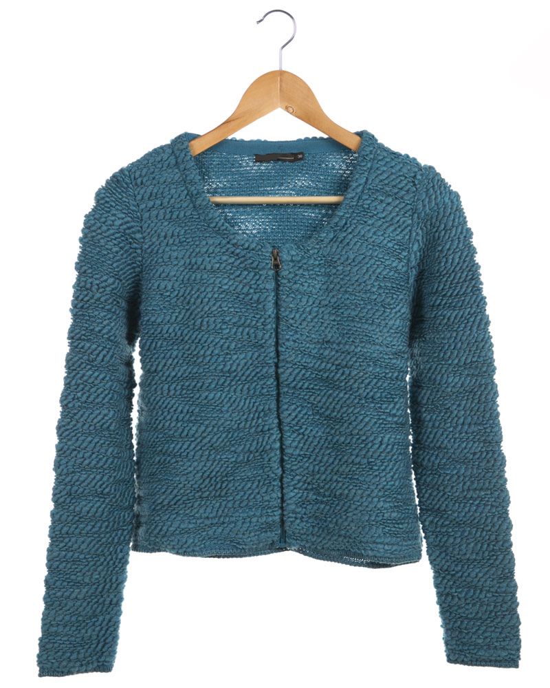 Soft Surface Zipped Cardigan for girls