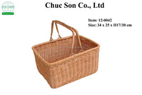 Factory Manufacturer Direct Wholesale hotel home & garden use PE rattan wicker stackable storage basket
