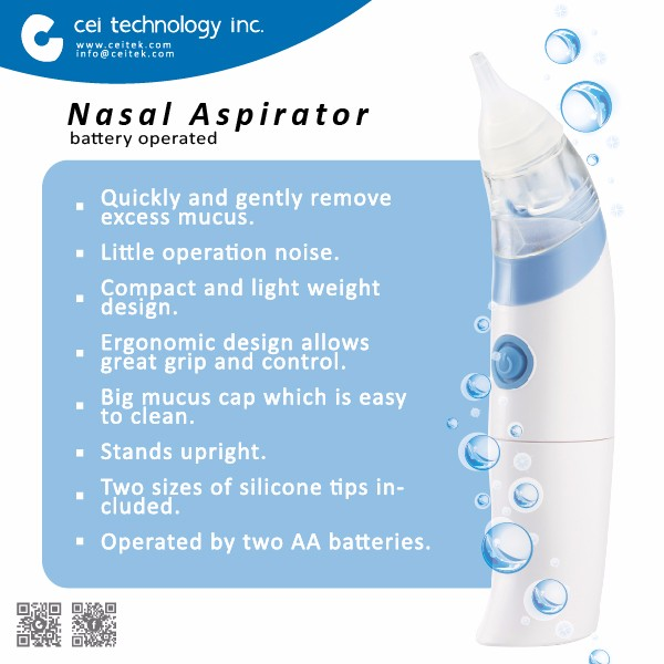 2017 Best Sell Cheap Waterproof Baby Vacuum Nasal Aspirator