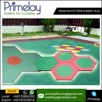 Best Made Hexagon Pattern Rubber Tiles