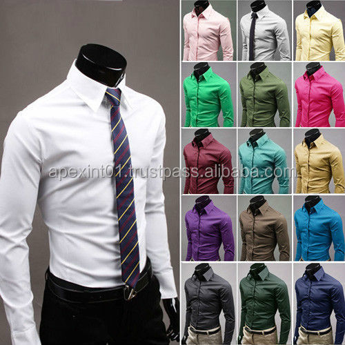 High Quality Custom Design Mens Shirt / Mens Dress / Men Dress Casual Formal Fitted Shirts