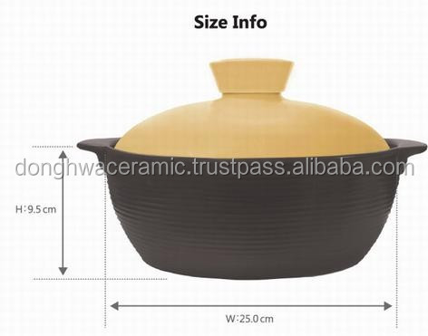 Dong hwa ceramic Yellow Pastel pot 25cm high quality made in Viet Nam