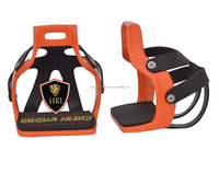 Orange Caged aluminium Riding Stirrups/ Aluminium endurance flex riding stirrups/ Caged Unique style riding stirrups