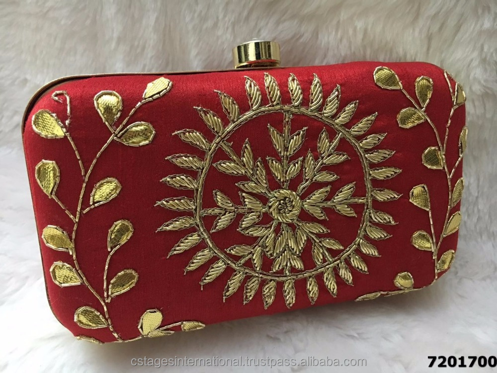 Amazing Embroidered Indian Box Clutch