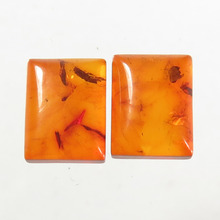 AAA BALTIC AMBER Pear Cabochon Pressed Gemstone For Jewelry