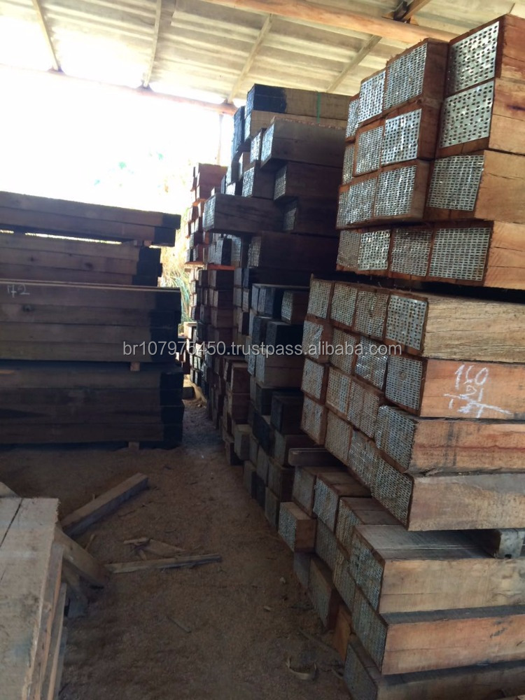 Best Price Treated Wooden Railroad Tie Sleeper - Timber - Wood - from Brazil