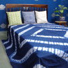 rajasthani unique design indigo print cotton bed sheet duvet cover