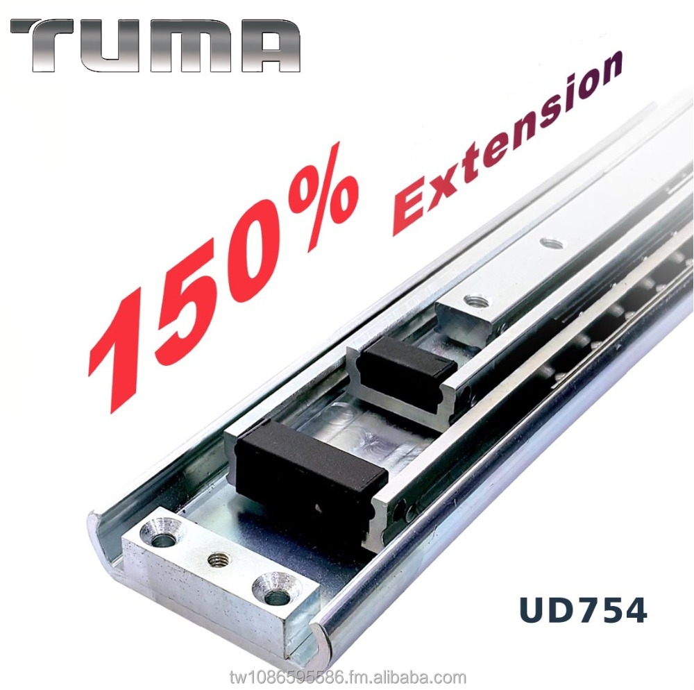 TUMA 150% Extension Extra Heavy Duty Slides, 200 KG Loading Industrial heavy duty slides,ball bearing heavy duty slides