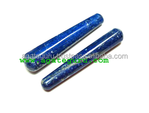 Lapis Lazuli Latest New Age Collection Smooth massage wands