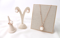 oz-oz Imitation Pearl Holic, 92.5 silver pin Earrings, new korean design, High Quality Jewelry Sets