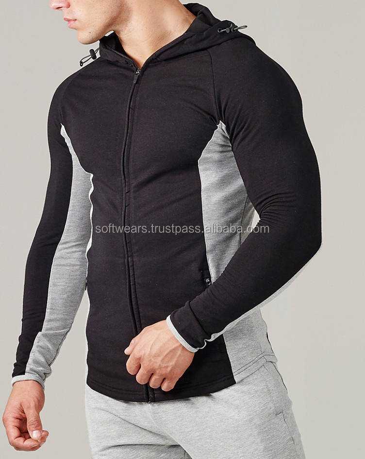 customized men sweatshirt full zipper hoodies