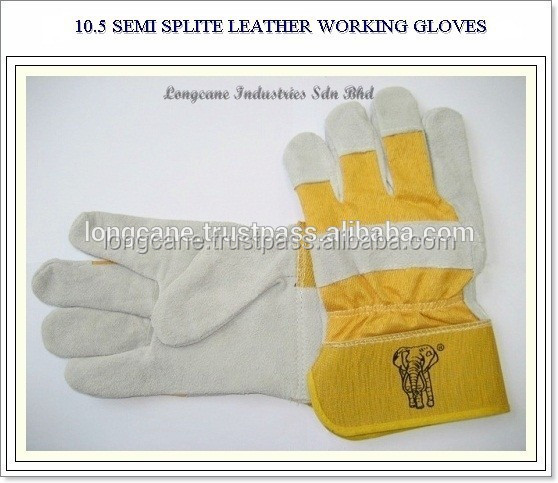 10.5 Inch Semi Split Leather Working Gloves