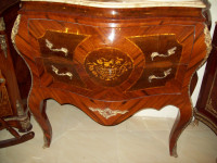 ANTIQUE-WOODEN-COMMODE-ROCOCO-STYLE-LOUIS-FURNITURE-MARBLE-TOP ANTIQUE