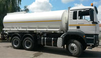 Water tank truck (stainless steel) with spray bar. Germany.