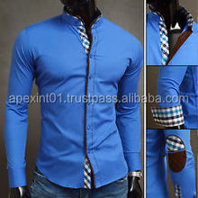latest design men's slim fit dress shirt for business manufacturer