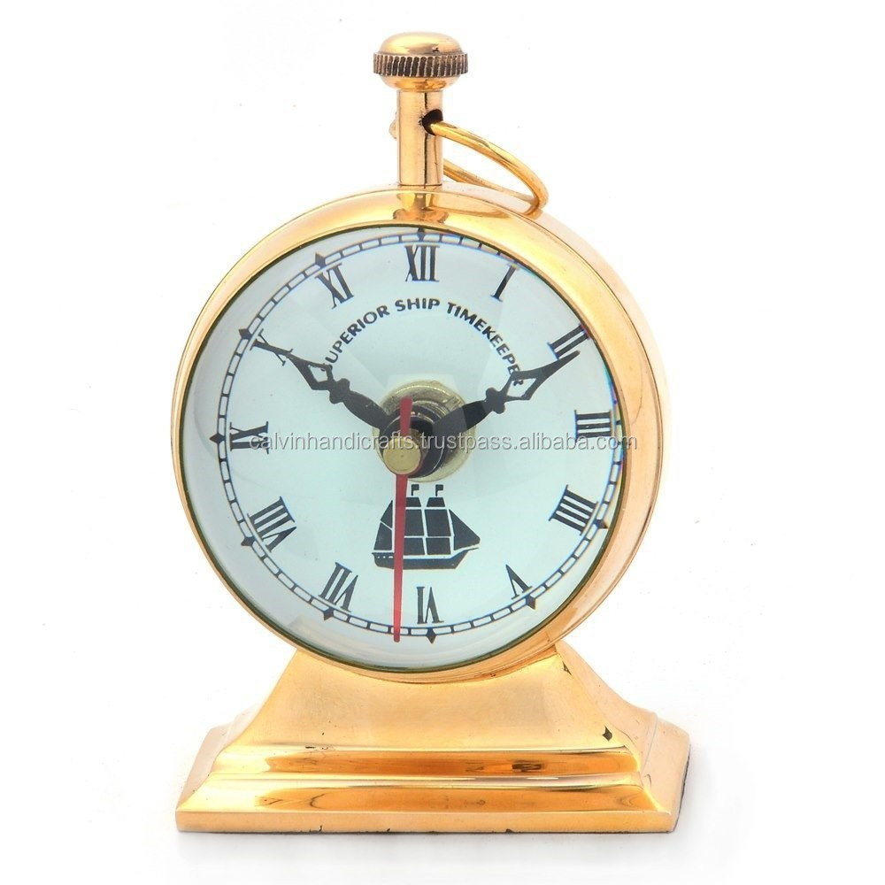 Antique brass table clock-promotional gift table clock 2063
