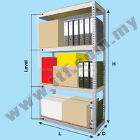 Boltless DIY Rack (Light Grey), Racks, TTF Storage Racking System