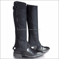 XX LARGE HORZE RIBBED AMARA HALF CHAPS HORSE RIDING SYNTHETIC LEATHER VELCRO By Riaz Jamal Intel