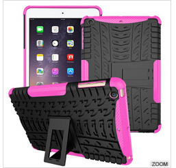 Nouvelle arrivée armour case pour ipad mini anti frapper pc silicone mix hybride de protection shell cover