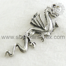 Wholesale 925 Sterling Silver Dragon Pendant Latest Handmade Silver Jewelry Supplier
