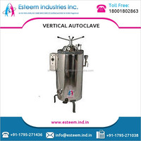 Stainless Steel Based Double Door Steam Sterilizers with Double Safety Radial Protection