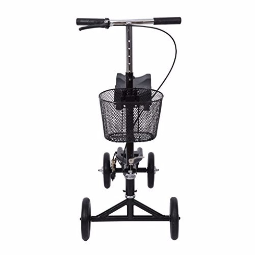 2017 new launch steel knee scooter knee walker with basket for rehab use