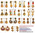 Wholesale pearl Jhumka earrings-one gram gold plated earrings - online peacock style jhumka earrings