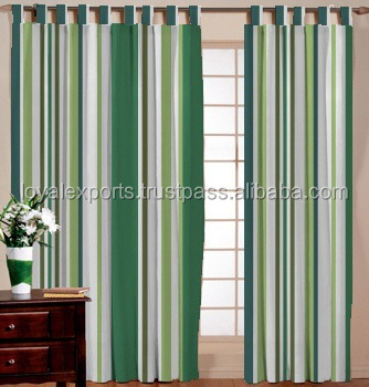 Multi Striped Cotton Door Curtain / Striped Window Screen / New Designed Shower Screen