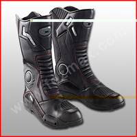 Motorcycle Mens Racing boots Waterproof Motocross Boots Motorbike / Motorcycle Road Safety Shoes /Long Length Black Winter shoes