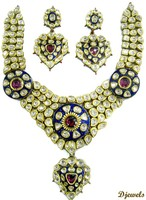 Kundan Polki Necklace Sets, Polki Meena Necklace Sets, Polki Jewelry