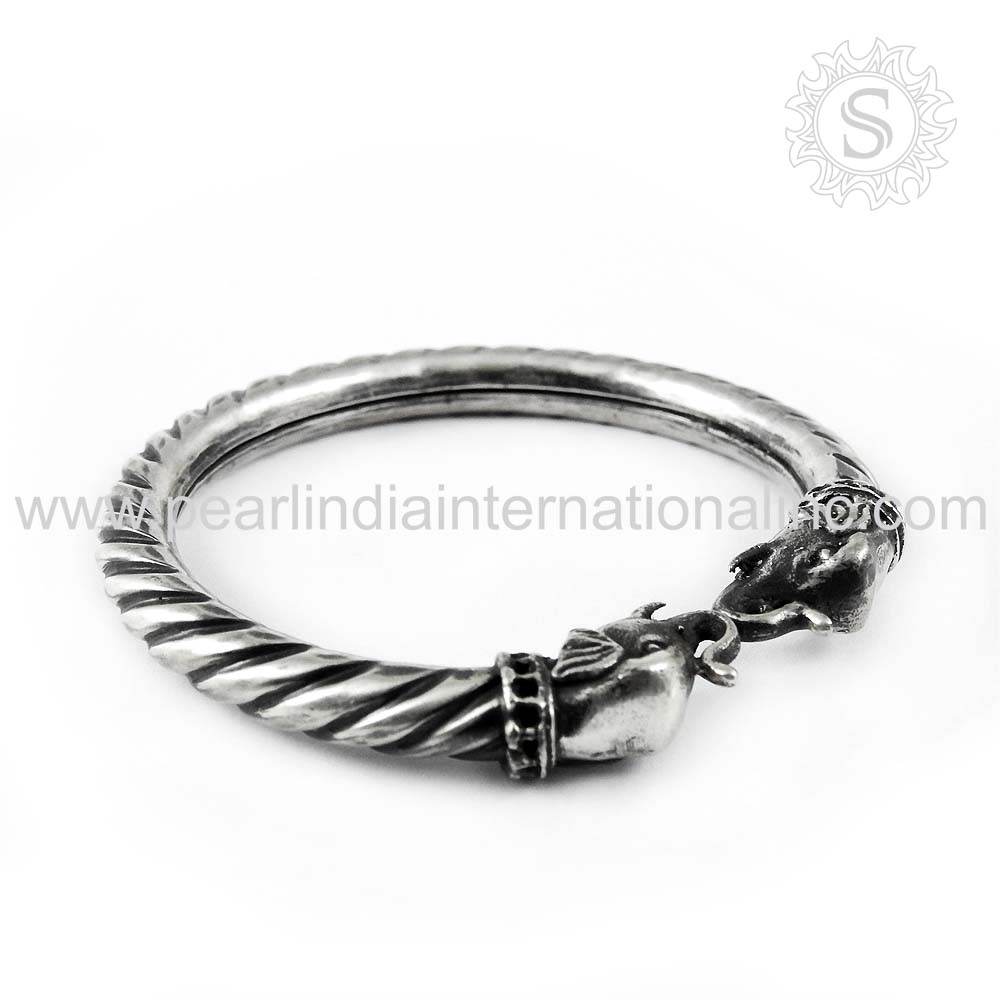Spectacular Design Plain Silver Bangle Jewelry Solid 925 Sterling Silver Jewelry Bangle Exporters