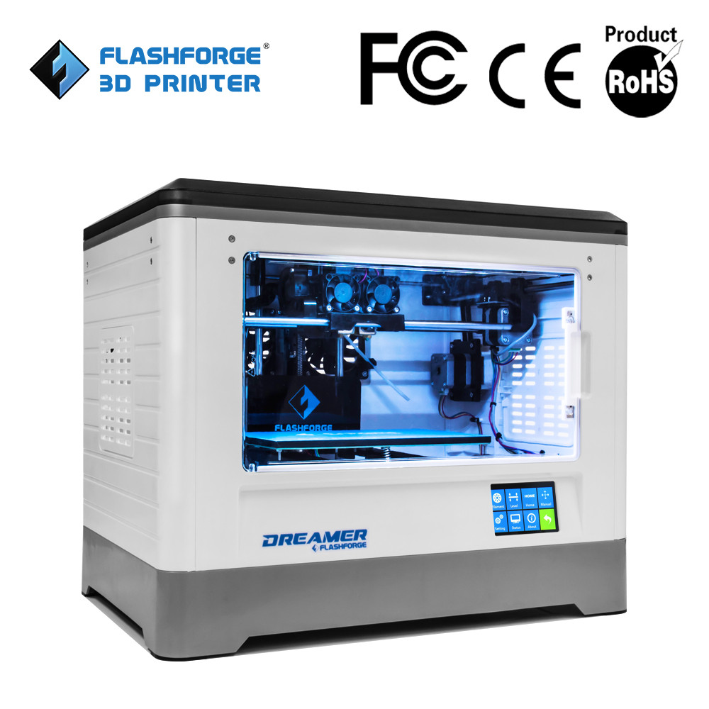 Flashforge 3d printer dual extruder ABS PLA filament WIFI connection factory easy handle dual extruder 3d printer machine