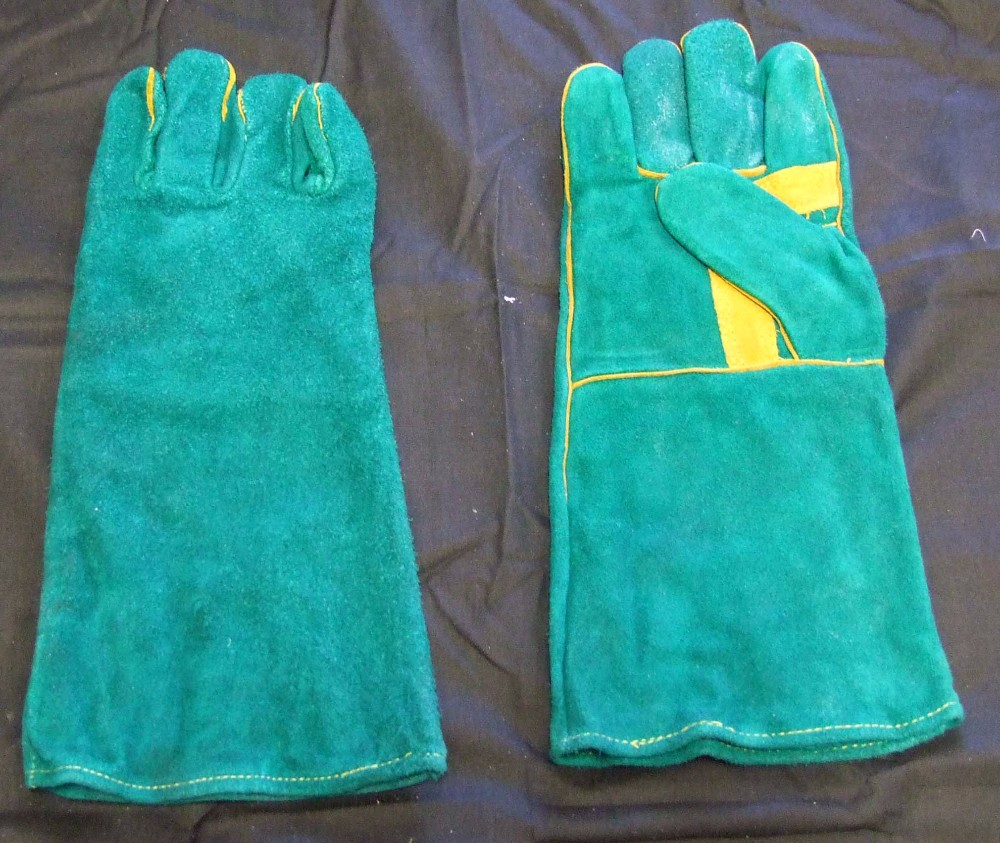 Long Cow Leather Work Gloves