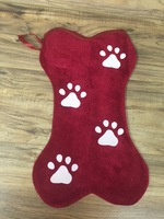 Bone Shaped Pet Christmas Stocking