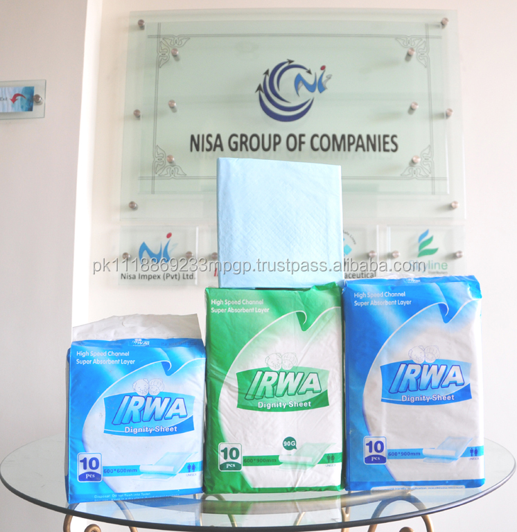 IRWA Disposable Dignity sheet