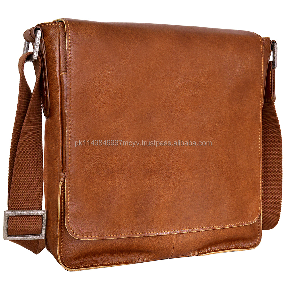 Business Laptop Messenger Cross Body Bag Leather