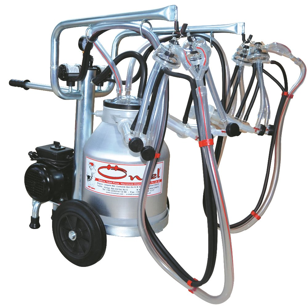 MILKING MACHINE-FOR GOAT MILKING-PORTABLE-4 MILKING UNITS-ECO MODEL-SINGLE ALM.BUCKET-OC.1006-1