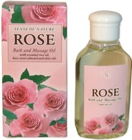 Bath and Massage Rose Oil - 50ml. Paraben Free. Made in EU. Private Label Available.