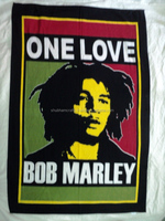 hippie printed wall hangings tapestry bob marley
