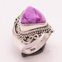 925 Solid Silver Ring Natural Gemstone