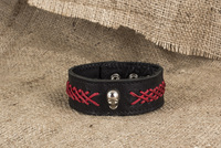 leather with metal accessories bracelet