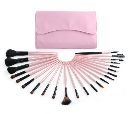 23pcs Full Set Pink Cosmetic Tool Makeup Brushes Wholesale.jpg