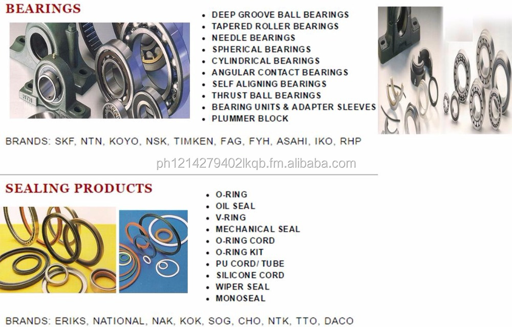 Bearing, Sealing, Circlip, Gaskets, Packings, Shrink Wrap, Packaging Materials, Plotter Paper, Shrink Wrap,