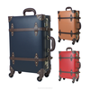 2016 luggage trolley bags travel suitcases 4 wheels PP board cases vintage carry