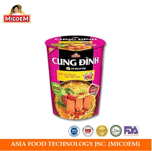 Stewed Pork Ribs with Bamboo Shoots Flavor Instant Noodles Cup 65gram