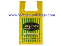 Vietnam MDPE Plain embossed colored T-shirt carrier shopping bags