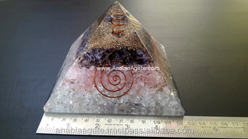C.R.A Big Orgone Pyramid : Orgone Healing Pyramid : Pyramid with 3 Layers