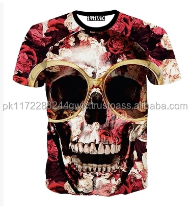 3d Custom t-shirt Printing Best Quality 100% Cotton O-Neck Men's 3d T-shirt Short Sleeve Men's T-shirt