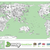 Decoration World Map Sticker Illustration World